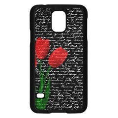 Red tulips Samsung Galaxy S5 Case (Black)