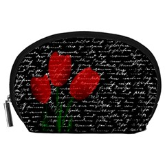 Red tulips Accessory Pouches (Large)