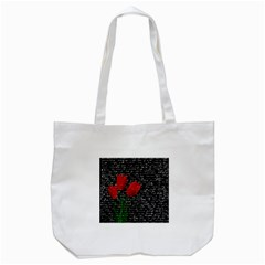 Red tulips Tote Bag (White)