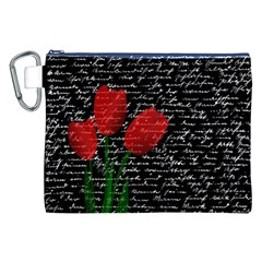 Red tulips Canvas Cosmetic Bag (XXL)