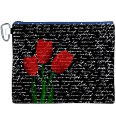 Red tulips Canvas Cosmetic Bag (XXXL)