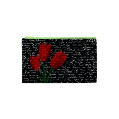 Red tulips Cosmetic Bag (XS)