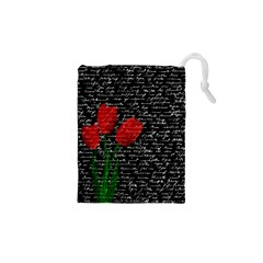 Red tulips Drawstring Pouches (XS)