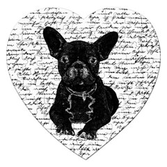 Cute bulldog Jigsaw Puzzle (Heart)
