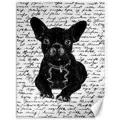 Cute bulldog Canvas 36  x 48