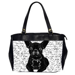 Cute bulldog Office Handbags (2 Sides)
