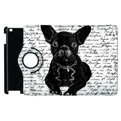 Cute bulldog Apple iPad 3/4 Flip 360 Case