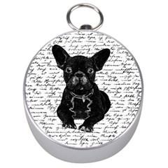 Cute bulldog Silver Compasses