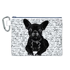 Cute bulldog Canvas Cosmetic Bag (L)
