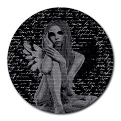 Angel Round Mousepads