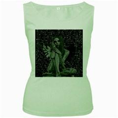 Angel Women s Green Tank Top