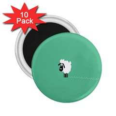 Sheep Trails Curly Minimalism 2.25  Magnets (10 pack)