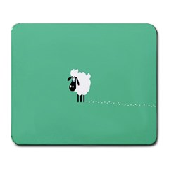 Sheep Trails Curly Minimalism Large Mousepads