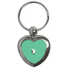 Sheep Trails Curly Minimalism Key Chains (Heart)