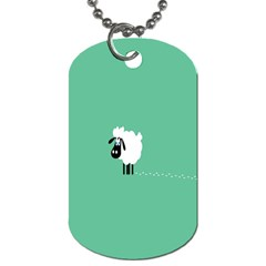 Sheep Trails Curly Minimalism Dog Tag (Two Sides)