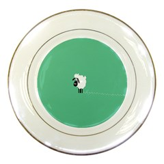 Sheep Trails Curly Minimalism Porcelain Plates