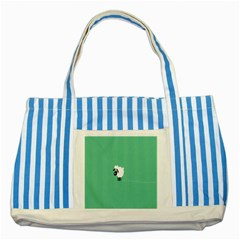 Sheep Trails Curly Minimalism Striped Blue Tote Bag