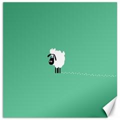 Sheep Trails Curly Minimalism Canvas 12  X 12