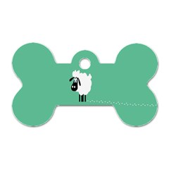 Sheep Trails Curly Minimalism Dog Tag Bone (two Sides)