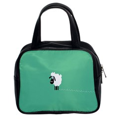 Sheep Trails Curly Minimalism Classic Handbags (2 Sides)