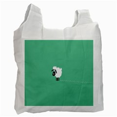 Sheep Trails Curly Minimalism Recycle Bag (one Side)