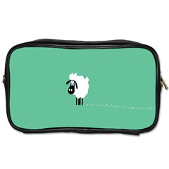 Sheep Trails Curly Minimalism Toiletries Bags