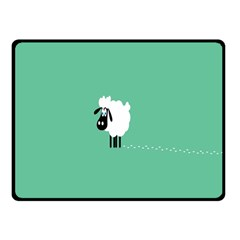 Sheep Trails Curly Minimalism Fleece Blanket (Small)