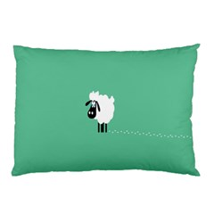 Sheep Trails Curly Minimalism Pillow Case (Two Sides)