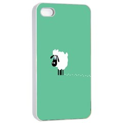 Sheep Trails Curly Minimalism Apple iPhone 4/4s Seamless Case (White)