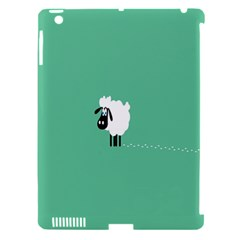 Sheep Trails Curly Minimalism Apple iPad 3/4 Hardshell Case (Compatible with Smart Cover)