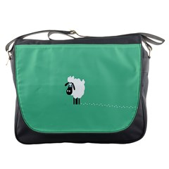 Sheep Trails Curly Minimalism Messenger Bags