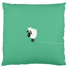 Sheep Trails Curly Minimalism Large Cushion Case (one Side)