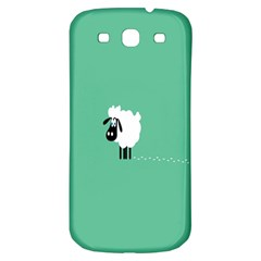 Sheep Trails Curly Minimalism Samsung Galaxy S3 S III Classic Hardshell Back Case