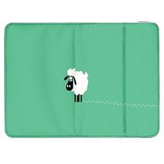 Sheep Trails Curly Minimalism Samsung Galaxy Tab 7  P1000 Flip Case
