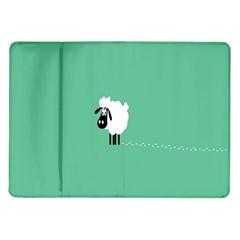 Sheep Trails Curly Minimalism Samsung Galaxy Tab 10.1  P7500 Flip Case