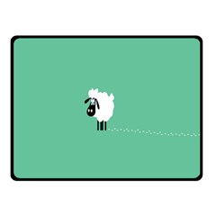 Sheep Trails Curly Minimalism Double Sided Fleece Blanket (Small)