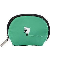 Sheep Trails Curly Minimalism Accessory Pouches (Small)