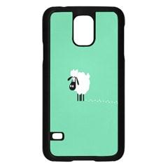Sheep Trails Curly Minimalism Samsung Galaxy S5 Case (Black)