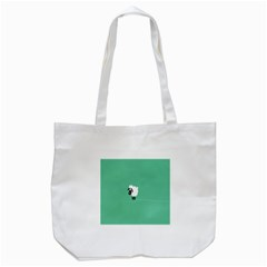 Sheep Trails Curly Minimalism Tote Bag (White)