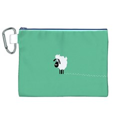 Sheep Trails Curly Minimalism Canvas Cosmetic Bag (XL)