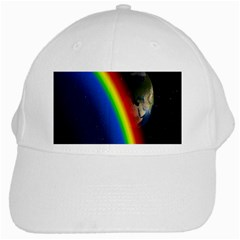Rainbow Earth Outer Space Fantasy Carmen Image White Cap