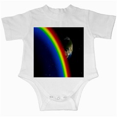 Rainbow Earth Outer Space Fantasy Carmen Image Infant Creepers