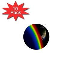 Rainbow Earth Outer Space Fantasy Carmen Image 1  Mini Buttons (10 Pack)