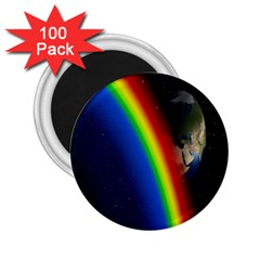 Rainbow Earth Outer Space Fantasy Carmen Image 2.25  Magnets (100 pack)