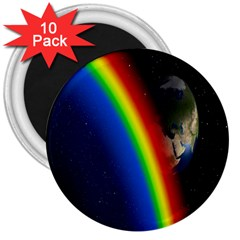 Rainbow Earth Outer Space Fantasy Carmen Image 3  Magnets (10 pack)