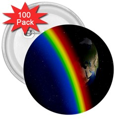 Rainbow Earth Outer Space Fantasy Carmen Image 3  Buttons (100 Pack)