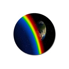 Rainbow Earth Outer Space Fantasy Carmen Image Magnet 3  (round)