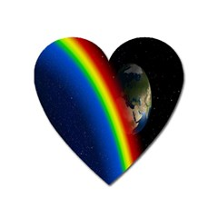 Rainbow Earth Outer Space Fantasy Carmen Image Heart Magnet