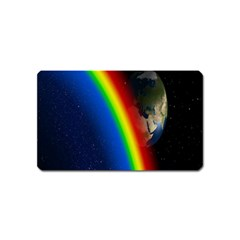 Rainbow Earth Outer Space Fantasy Carmen Image Magnet (Name Card)