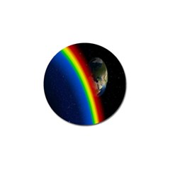 Rainbow Earth Outer Space Fantasy Carmen Image Golf Ball Marker (10 pack)